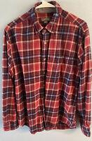 Men's Eddie Bauer Size Large Flannel Plaid Long Sleeve Shirt