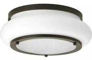 Progress Lighting Opal-Linen LED Small Flush Mount, Bronze - P350081-020-30