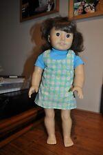 "Pleasant Company American Girl 18"" Doll Retired DARK BROWN HAIR BROWN EYES EUC"
