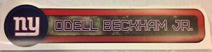 """27.5"""" x 6.5"""" Giants Odell Beckham Jr FATHEAD Player Nameplate Banner Graphic"""