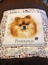 New Pomeranian Dog Quillow (Pillow w/ 6ft long quilt inside!)