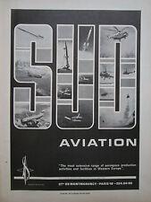 5/1967 PUB SUD AVIATION CONCORDE AIRBUS PUMA ALOUETTE FRELON LAMA RALLYE AD