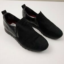 Munro Womens Leather Kit Loafer Slip On Shoes Size 9W Wide Black Slip On