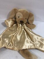 BABY GUND Spot Brown Dog Security Blanket Lovey HUGGYBUDDY SPUNKY Plush Silk 14""