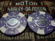 Harley Purple & White Poker Chip Speedway Harley Davidson Concord, NC