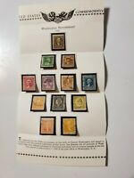 U.S. Postage Stamps 1932 George Washington Bicentennial Complete Collection