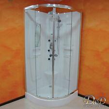 CABINA BOX DOCCIA IDROMASSAGGIO SEMICIRCOLARE 90x90