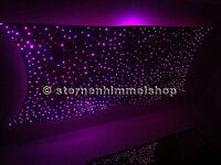Glasfaser-Sternenhimmel mit LED-Technik 200 Lichtfaser Komplett Einbau Set
