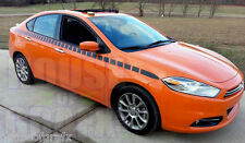 Cuda Style Strobe Faded Stripe Stripes Graphics Decals fits any 2013+ Dodge Dart