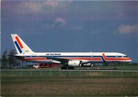 AIR HOLLAND AIRLINES BOEING 757-27B AT AMSTERDAM SCHIPHOL 1988 POSTCARD