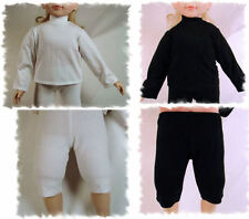 BLACK/WHITE CHEERLEADER TURTLENECK LEGGINGS/SHORTS LOT FOR MY TWINN TWIN DOLL