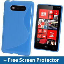 Blue Dual Tone TPU Gel Case for Nokia Lumia 820 Windows Skin Cover Shell Holder