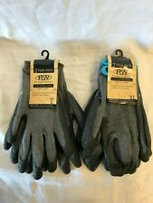 Rugged Wear Mens with Latex Dipped Two Sizes Gloves Lot of 2 Pair Free Ship