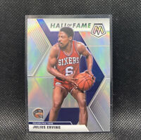 Julius Erving Silver Mosaic Prizm 2020 Panini Hall Of Fame #288 76ers