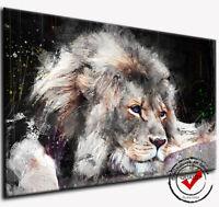 LÖWE LEINWAND BILD  LION WANDBILD ABSTRAKT KUNSTDRUCKE NATUR MODERN DEKO TIERE