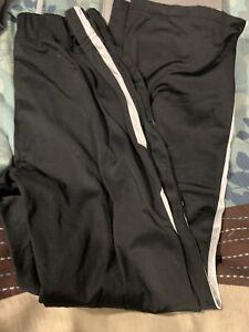 Nike youth large black sweatpants white pinstripe