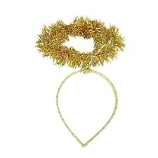 Christmas Gold Tinsel Angel Halo Bopper Alice Hair Band Headband Accessories