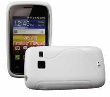 Rubber Case Wave für Samsung S6102 Galaxy Y DuoS in weiß Silikon Skin Hülle Bag