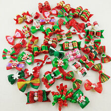 20pcs Mix Christmas Design Dog Hair Bows Pet Dog Grooming Hair Bows Accessories