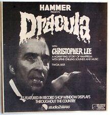 HAMMER PRESENTS DRACULA 1974 original Advert CRISTOPHER LEE