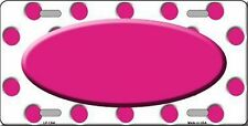 "Hot Pink Polka Dot Novelty 6"" x 12"" Metal License Plate Auto Tag Sign"
