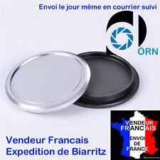 Bouchon e METAL NOIR ou ARGENT DE MARQUE DÖRN pour boitiers vis 39mm  M39 LEICA