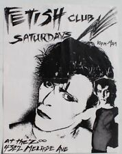 Vtg 1980s Fetish Club At The Zoo Melrose Ave Punk Rock Concert Flyer CA