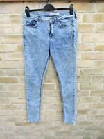 Topshop Moto Leigh Stonewash Super Soft Skinny Jeans W32 L34 Size 12