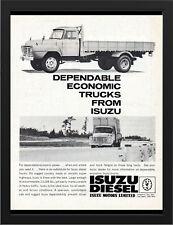 "1963 ISUZU DIESEL TRUCKS AD A3 FRAMED PHOTOGRAPHIC PRINT 15.7""x11.8"""