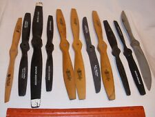 TOP FLITE WOODEN & PLASTIC GAS AIRPLANE PROPS LOT OF 11 MIXED SIZES #3