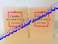 Lot of 2~Cartier Baiser Vole Lys Rose Eau de Toilette .05oz/1.5ml Carded Sample