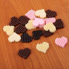 20pcs Heart Resin Beads for DIY Birthday, Doughnut, Ice Cream, Cakes Decor