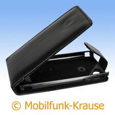 Flip Case Etui Handytasche Tasche Hülle f. Sony Ericsson Xperia Arc (Schwarz)