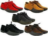 Mens New Casual Lace Up Suede Fashion Shoes in Red, Tan, Navy UK Size 6-11