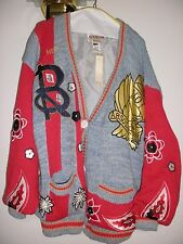 Absolutely No! Jeans Button Up Knit Cardigan Sweater Floral Print (New w/ Tag)