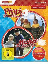 Lindgren PIPPI LANGSTRUMPF+MICHEL DE LOENNEBERGA Juego cine 7 DVD Completo Caja