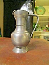 Vintage Pewter Pitcher with Lid Double Acorn Angel With Trumpet B I Mark on lip