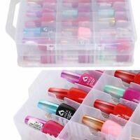 48Lattice Nail Polish Holder Display Container Case Storage Organizer-Box M8P1