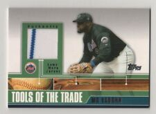2002 Topps Traded Tools of the Trade Mo Vaughn Mets Game Used Jersey BV$8
