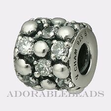Authentic Chamilia Silver Clear Gleaming Splendor Bead JB-33 *RETIRED*