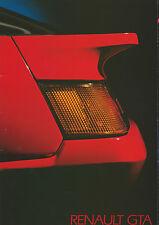 Renault GTA UK Market Brochure 1986 Includes V6 & V6 Turbo Models 30 Pages