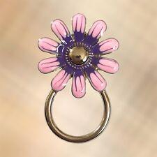 NEW Purple & Pink Flower Eyewear Eye Glasses Spectacle Hanger Brooch Pin Holder