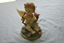 Ceramic Baby Cupid With Bow and Arrow in a Pouch