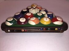 Ornate Game Room Pool Table Triangle Billiard Ball Rack Holder Trinket Box Décor