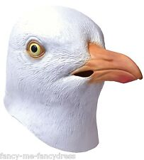 Mens Ladies Seagull Bird Rubber Face Mask Halloween Fancy Dress Costume Outfit