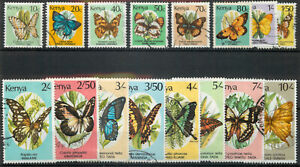 Kenya 1988 Butterflies part set of 16 used *COMBINED SHIPPING*