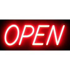 """Optiva 20"""" Ultra Bright Led Open Sign - Illuminated Business storefront signage"""