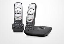 Siemens Gigaset A415A Duo / A 415 A Duo analog schnurlos Telefon mit AB schwarz
