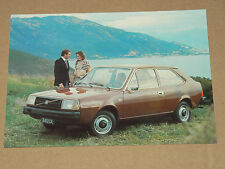 Grande Carte Postale Ancienne VOLVO 343 DL An 1976 prospectus brochure catalogue
