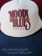 RARE Vintage Moody Blues Band USA Tour 1984 Mesh Snapback Trucker Hat Cap Rock